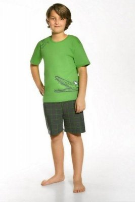 Cornette 790/34 Hungry crocodile Zelené Chlapecké pyžamo