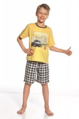 Cornette 802/49 Safari žluté Chlapecké pyžamo