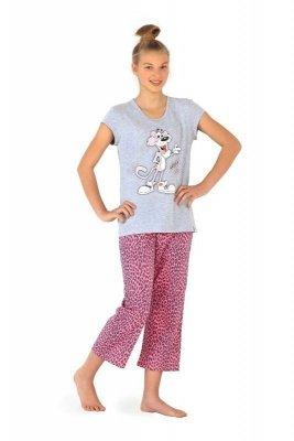 Cornette 556/17 Panther Šedé Dívčí pyžamo