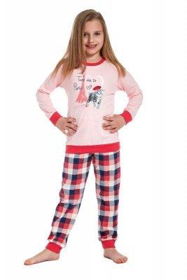 Cornette 594/74 Take me to Paris Růžové Dívčí pyžamo
