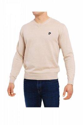 Pierre Cardin V-Logo béžový Svetr