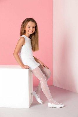 Gabriella 759 liza bílé Dívčí Punčochové kalhoty
