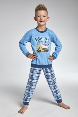 Cornette 593/72 work modré Chlapecké pyžamo