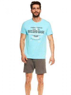 Henderson Join 36823-50X Modro-šedé Pánské pyžamo