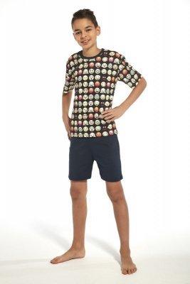 Cornette 335/77 young emoticon2 tmavě modré Chlapecké pyžamo