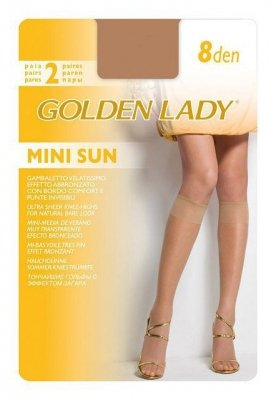 Golden Lady Mini Sun 8 den A'2 2-pack podkolenky