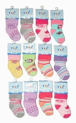 YO! Girls SKF Frotte Wywijane 14-20  mix Dívčí ponožky