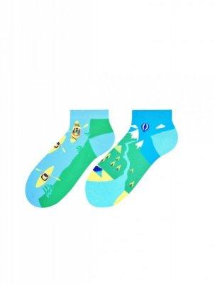 More 080 pánské kotníkové ponožky, nepárové