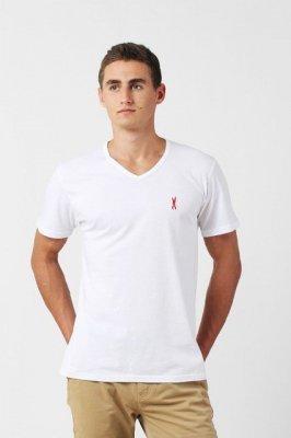 Orlovski V-Neck White Pánské tričko