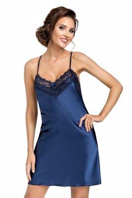 Donna Eva tmavě modrá Noční košile