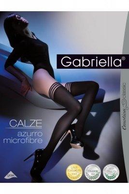 Gabriella 216 Calze Azuro nero Samodržící punčochy