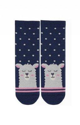 Wola W44.01P 11-15 lat Dívčí ponožky, s vzorem zvíře