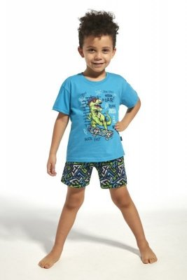 Cornette 789/66 kids dinosaur tyrkysové Chlapecké pyžamo