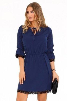 Merribel Shanice Dark Blue Šaty