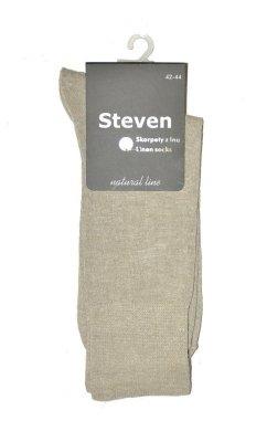 Steven art.049 Natural Linen Ponožky
