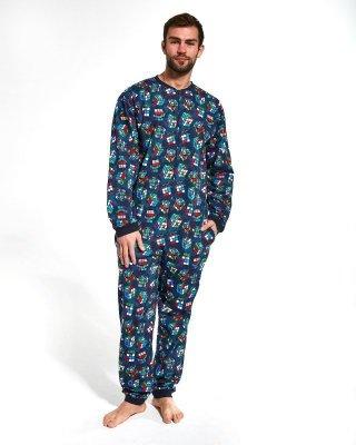 Cornette 196/159 Cubes Overal- pánské pyžamo