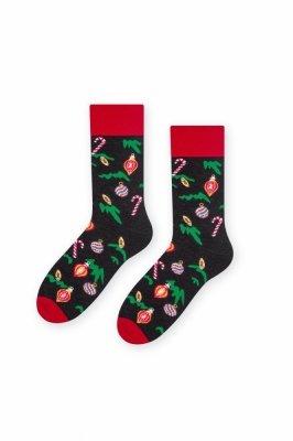 Steven 136 Vánoční koule(Bombki) grafitové Pánské ponožky