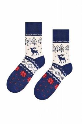 Steven 122 Renifer Pánské ponožky