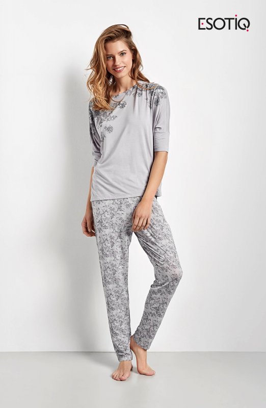 Esotiq Chana 34537-09X, 34539-09X šedé Dámské pyžamo