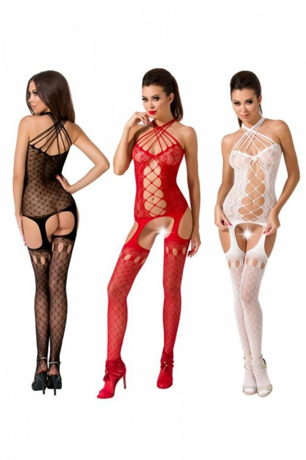 Passion BS056 červený Bodystocking