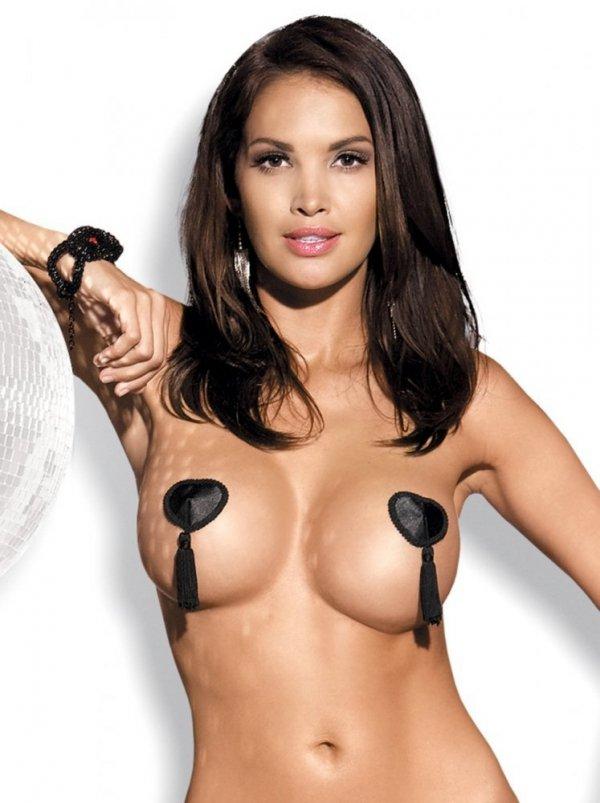 Obsessive Tassel Nipple Covers black Lepítka na bradavky