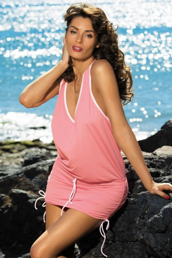 Plážové šaty Marko Elsa Frosted M-313 korálová