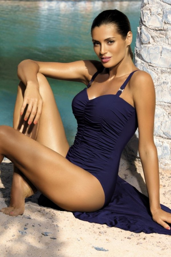 Dámské plavky Marko Fabienne Uniform M-324 tmavo modré (137)