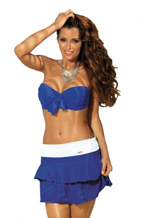 Plážová sukně Marko Mila M-334 Blu Persia-Bianco