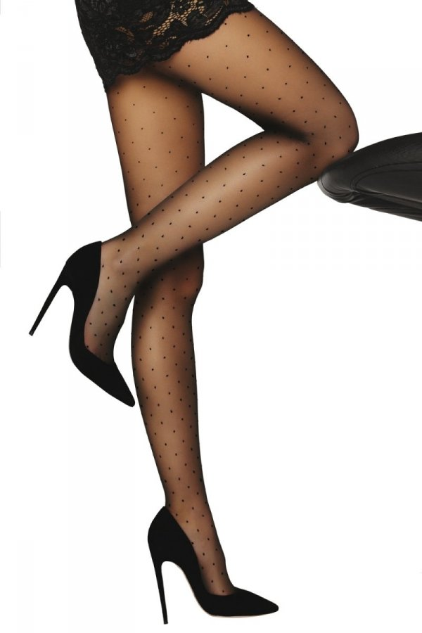 Livia Corsetti Orit 8 DEN Black Punčochové kalhoty