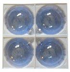 Bombki przezroczyste 12 cm 4 szt błękitne