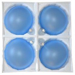 Bombki przezroczyste 12 cm 4 szt błękitne matowe