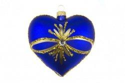 Serce niebieskie  9cm