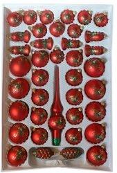 Zestaw 39 szt dekorowany czerwony mat