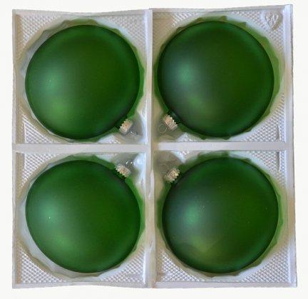 Bombki przezroczyste 12 cm 4 szt zielone matowe