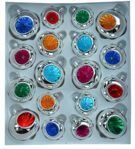 Zestaw dekorowany 18 szt reflektor mix kolorów
