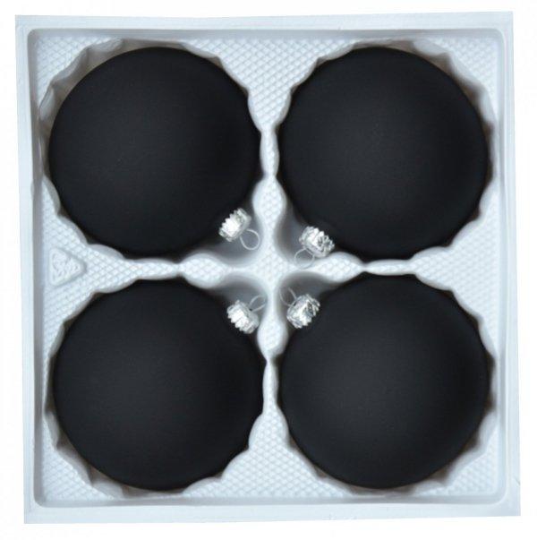Bombki gładkie 10 cm 4 szt czarne