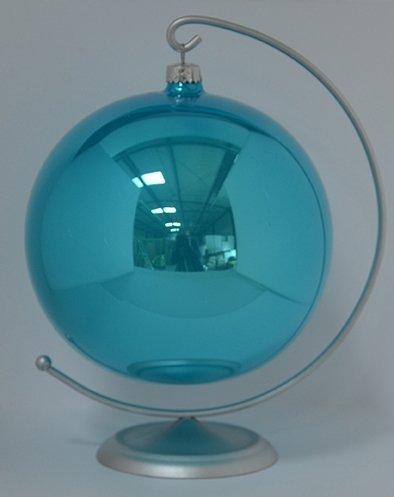 Bombka gładka duża 15 cm turkus opal