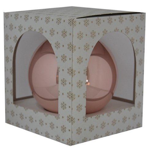 Bombka gładka duża 15 cm róż jasny opal