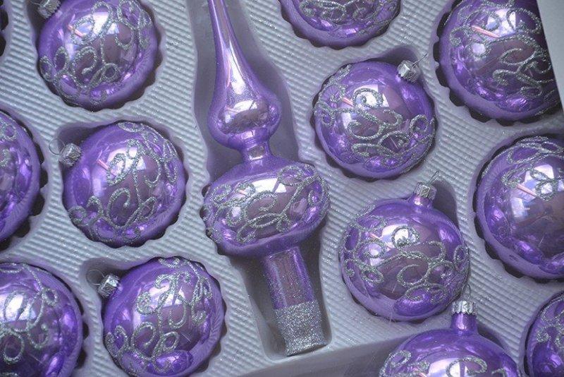 Zestaw dekorowany 39 szt. fiolet opal