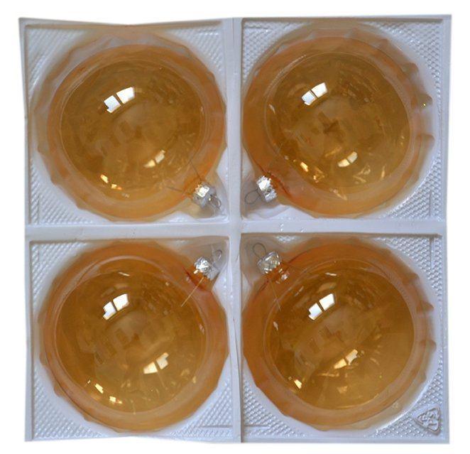 Bombki przezroczyste 12 cm 4 szt złote