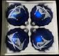 Bombki dekorowane10 cm 4 szt niebieski mat