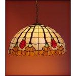 Lampa żyrandol zwis witraż AKSAMIT 50cm