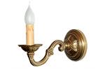 Kinkiet mosiężny,lampa ścienna z mosiądzu