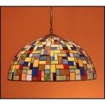 Lampa żyrandol zwis witraż MOZA 50cm