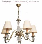 Żyrandol mosiężny JBT Stylowe Lampy WZMB/W08Z/5