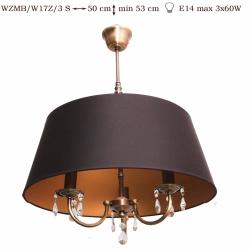 Żyrandol mosiężny JBT Stylowe Lampy WZMB/W17Z/3 S