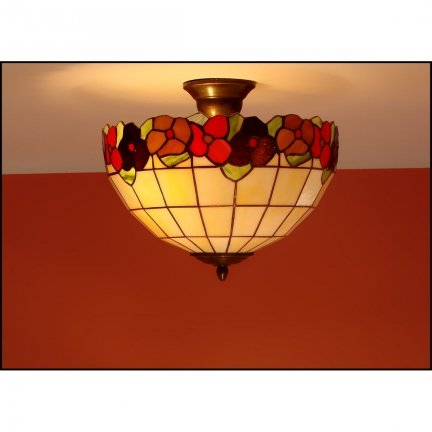 Plafon lampa żyrandol witraż BRATKI 30cm