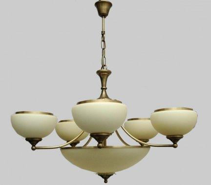 Żyrandol mosiężny JBT Stylowe Lampy WZMB/W63Z/2+5