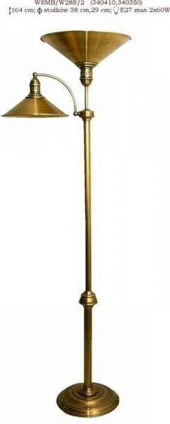 Lampa stojąca mosiężna JBT Stylowe Lampy WSMB/W28S/1(CBW340410,CBW340350)