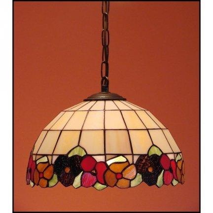 Lampa żyrandol zwis witraż BRATKI 30cm